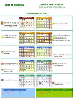 calendario-escolar-2020-2021-cadiz-junta-de-andalucia